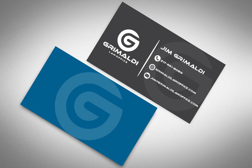 Grimaldi Law Office Business Cards and Stationery  Draft # 130 by rasix