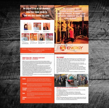 ENERGY Fitness Club is making a brochure targeting businesses Marketing collateral  Draft # 34 by touchclipping