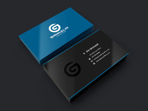 Grimaldi Law Office Business Cards and Stationery  Draft # 212 by eggtyegg