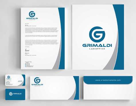 Grimaldi Law Office Business Cards and Stationery  Draft # 235 by Dawson