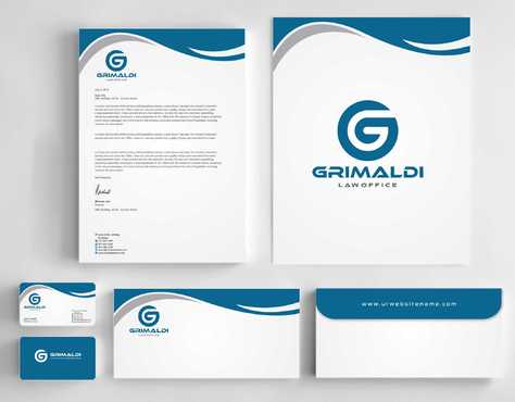 Grimaldi Law Office Business Cards and Stationery  Draft # 236 by Dawson