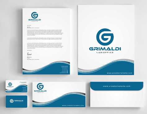 Grimaldi Law Office Business Cards and Stationery  Draft # 238 by Dawson