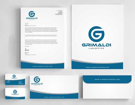 Grimaldi Law Office Business Cards and Stationery  Draft # 239 by Dawson