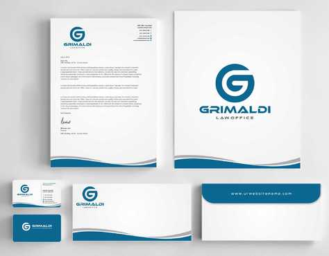 Grimaldi Law Office Business Cards and Stationery  Draft # 241 by Dawson