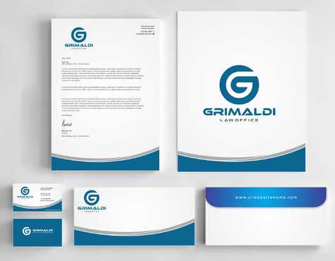 Grimaldi Law Office Business Cards and Stationery  Draft # 242 by Dawson