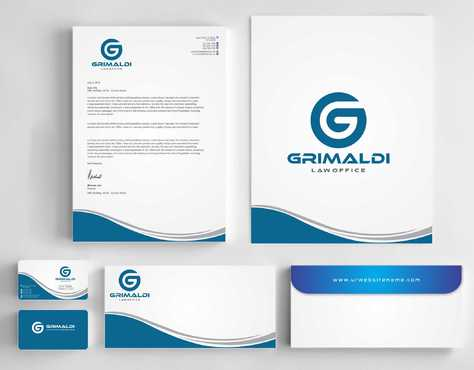 Grimaldi Law Office Business Cards and Stationery  Draft # 243 by Dawson