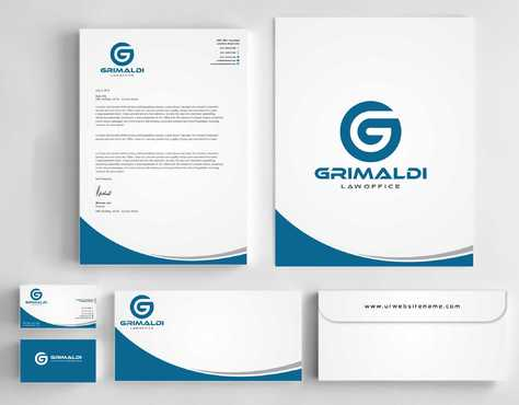 Grimaldi Law Office Business Cards and Stationery  Draft # 244 by Dawson