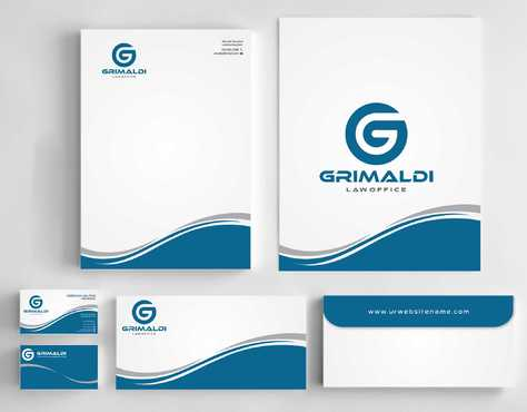 Grimaldi Law Office Business Cards and Stationery  Draft # 245 by Dawson