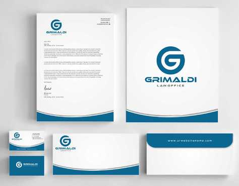 Grimaldi Law Office Business Cards and Stationery  Draft # 247 by Dawson