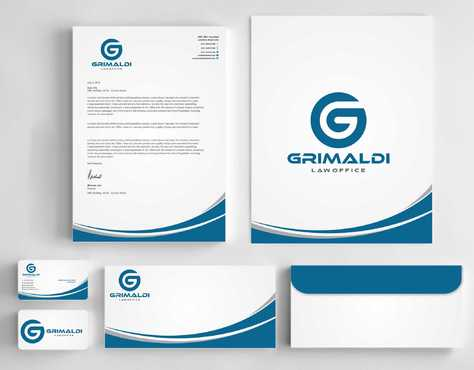 Grimaldi Law Office Business Cards and Stationery  Draft # 248 by Dawson