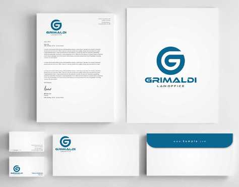 Grimaldi Law Office Business Cards and Stationery  Draft # 250 by Dawson