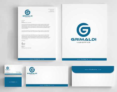 Grimaldi Law Office Business Cards and Stationery  Draft # 252 by Dawson