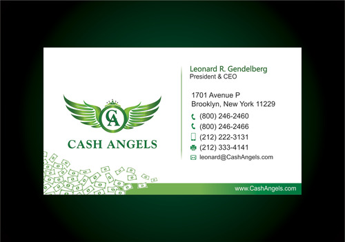 Cash Angels Business Cards and Stationery  Draft # 617 by vdhadse