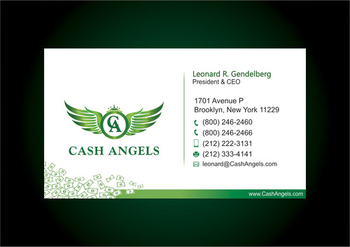 Cash Angels Business Cards and Stationery  Draft # 618 by vdhadse