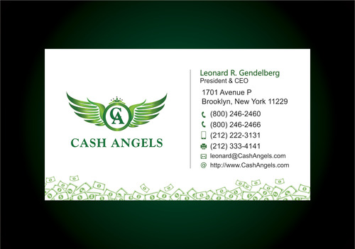 Cash Angels Business Cards and Stationery  Draft # 619 by vdhadse