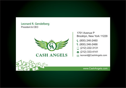 Cash Angels Business Cards and Stationery  Draft # 620 by vdhadse