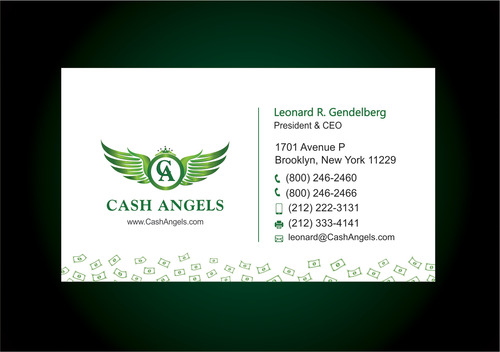 Cash Angels Business Cards and Stationery  Draft # 621 by vdhadse