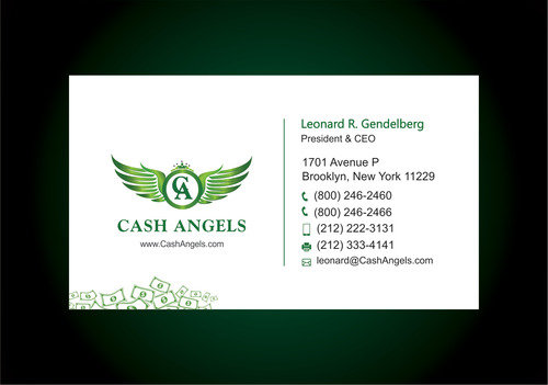 Cash Angels Business Cards and Stationery  Draft # 622 by vdhadse