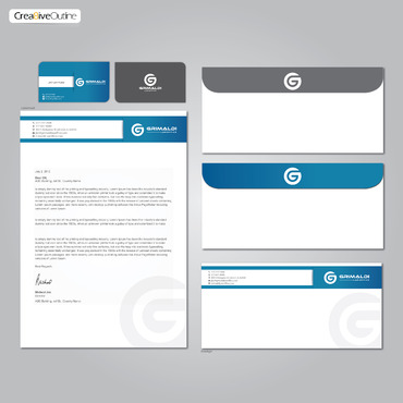 Grimaldi Law Office Business Cards and Stationery  Draft # 263 by creativeoutline