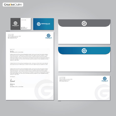 Grimaldi Law Office Business Cards and Stationery  Draft # 272 by creativeoutline