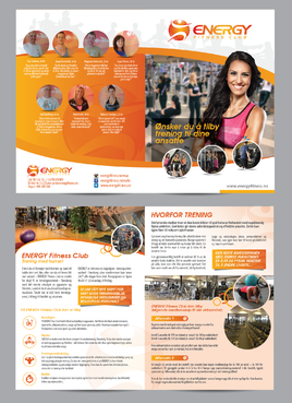 ENERGY Fitness Club is making a brochure targeting businesses Marketing collateral Winning Design by Achiver
