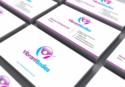 Vibrant Bodies Business Cards and Stationery  Draft # 136 by gozen