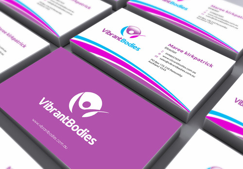 Vibrant Bodies Business Cards and Stationery  Draft # 159 by gozen