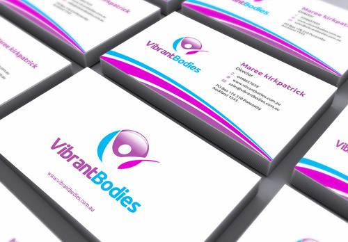 Vibrant Bodies Business Cards and Stationery  Draft # 160 by gozen