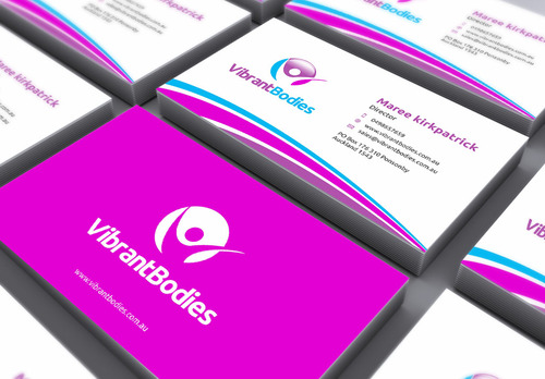 Vibrant Bodies Business Cards and Stationery  Draft # 161 by gozen