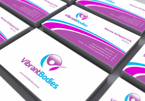 Vibrant Bodies Business Cards and Stationery  Draft # 163 by gozen