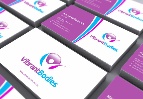 Vibrant Bodies Business Cards and Stationery  Draft # 165 by gozen