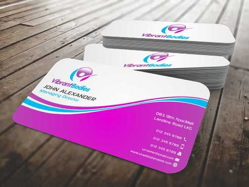 Vibrant Bodies Business Cards and Stationery  Draft # 181 by Dawson