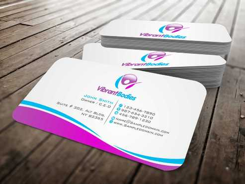 Vibrant Bodies Business Cards and Stationery  Draft # 185 by Dawson