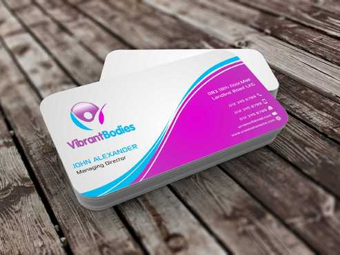 Vibrant Bodies Business Cards and Stationery  Draft # 186 by Dawson