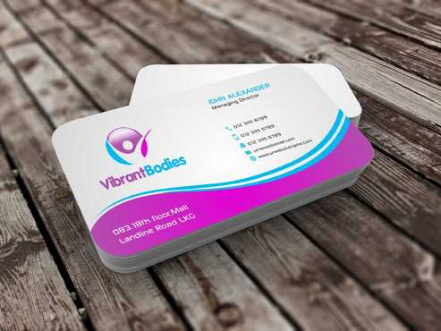 Vibrant Bodies Business Cards and Stationery  Draft # 188 by Dawson