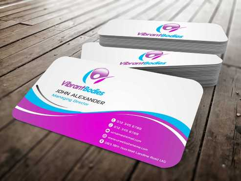 Vibrant Bodies Business Cards and Stationery  Draft # 198 by Dawson