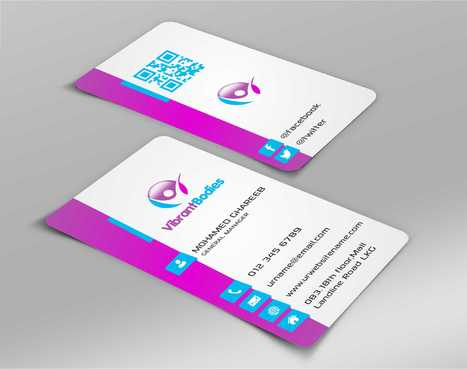 Vibrant Bodies Business Cards and Stationery  Draft # 212 by Dawson