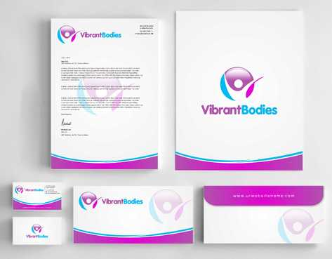 Vibrant Bodies Business Cards and Stationery  Draft # 234 by Dawson