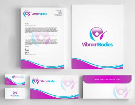 Vibrant Bodies Business Cards and Stationery  Draft # 240 by Dawson