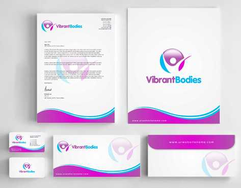 Vibrant Bodies Business Cards and Stationery  Draft # 241 by Dawson