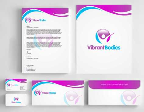 Vibrant Bodies Business Cards and Stationery  Draft # 246 by Dawson