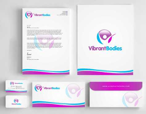 Vibrant Bodies Business Cards and Stationery  Draft # 248 by Dawson