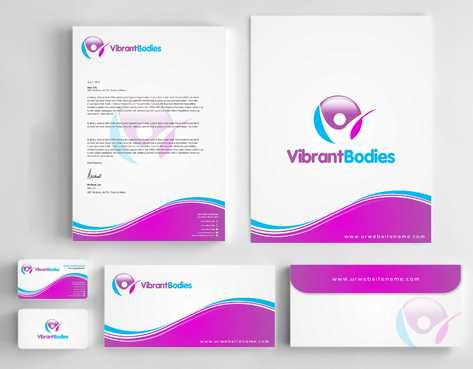 Vibrant Bodies Business Cards and Stationery  Draft # 250 by Dawson