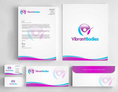 Vibrant Bodies Business Cards and Stationery  Draft # 256 by Dawson