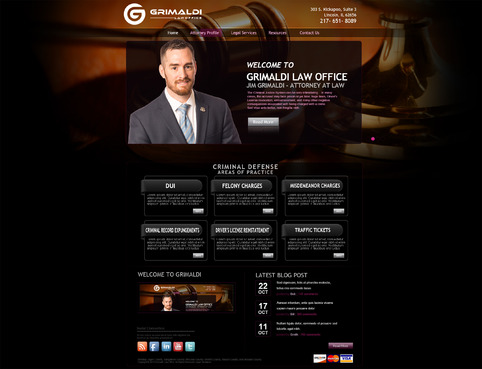 Grimaldi Law Office Complete Web Design Solution  Draft # 120 by creativeoutline