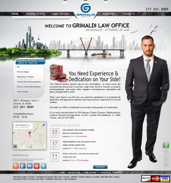 Grimaldi Law Office Complete Web Design Solution  Draft # 131 by creativeoutline