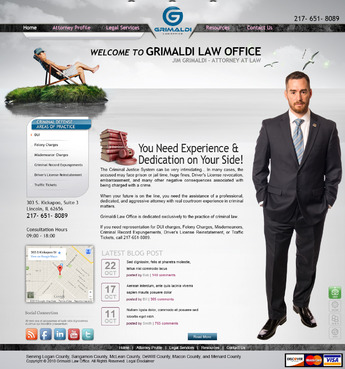 Grimaldi Law Office Complete Web Design Solution  Draft # 132 by creativeoutline