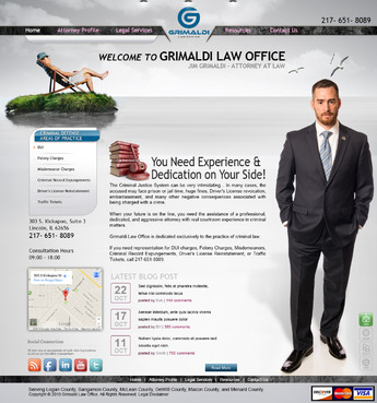 Grimaldi Law Office Complete Web Design Solution  Draft # 136 by creativeoutline