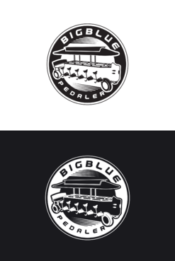 Big Blue Pedaler A Logo, Monogram, or Icon  Draft # 23 by skysthelimit