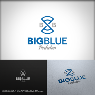 Big Blue Pedaler A Logo, Monogram, or Icon  Draft # 58 by carlovillamin